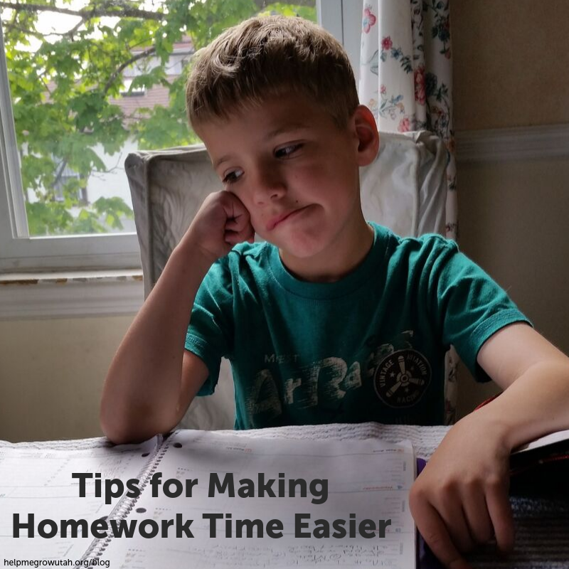 Tips for Making Homework Time Easier
