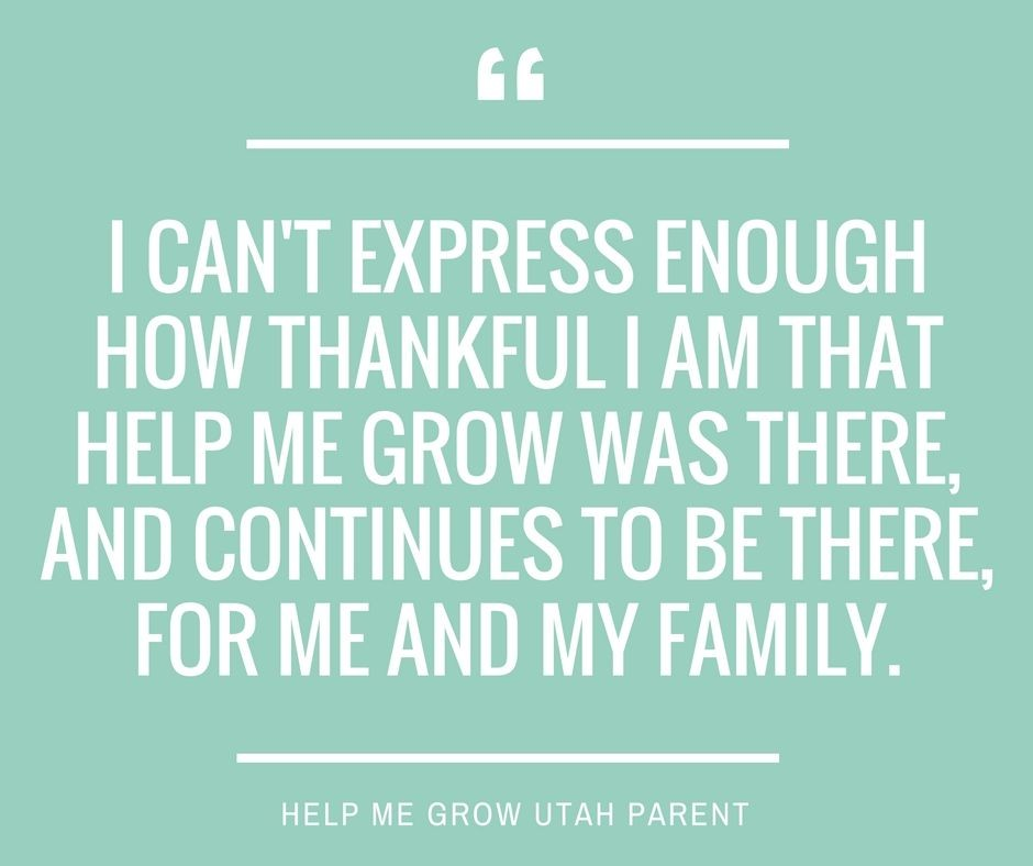 A Parent's Experience with Help Me Grow Utah